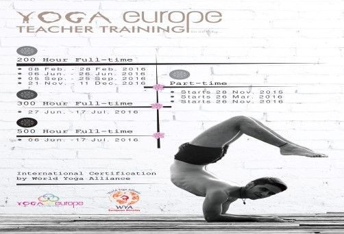 300/500 hours Yoga Teacher Training Course with World Yoga Alliance